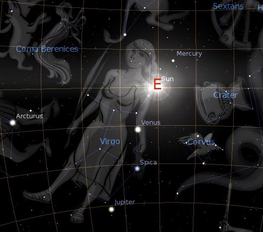 The constellation of Virgo 21st september 1792