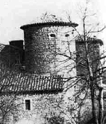 The Alchemy Tower at Rennes-le-Chateau. Complete with wedge-shaped holes at seemingly irregular intervals holes in the round tower.